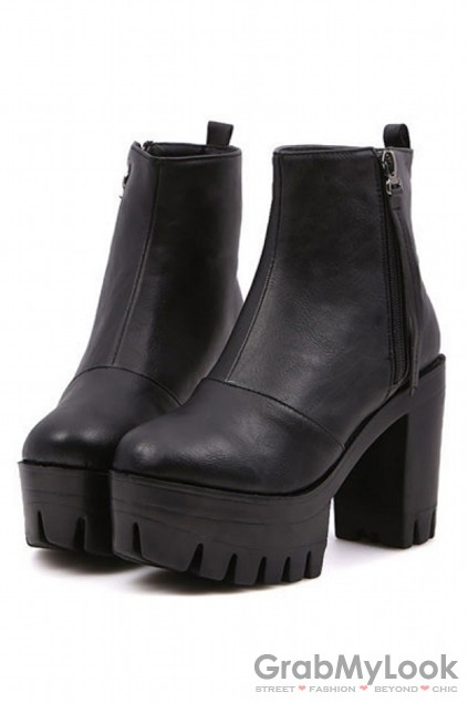 Shoes Boots Chunky Platforms Military Boots