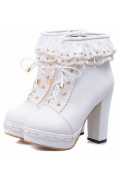 ​Lace Ankle Lace Up Platforms Ankle Gothic Harajuku Punk Rock High Heels Boo