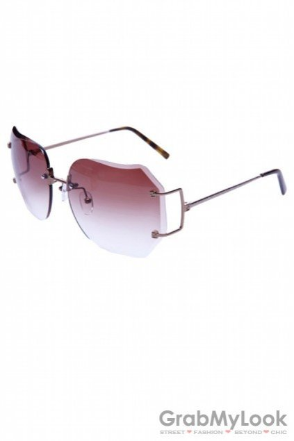 Accessories :: Glasses :: Square Oversized Frameless ...